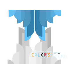 Colors shape modern style vector