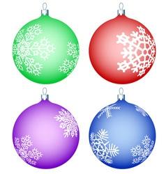Cristmas balls set vector image