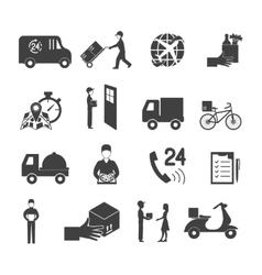 Delivery icon set vector