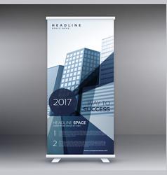Elegant business standee modern roll up banner vector