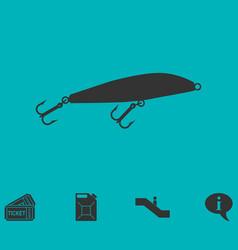 fishing tackle icon flat vector image vector image