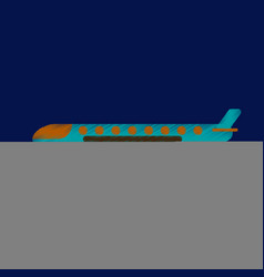 Flat icon in shading style aircraft vector