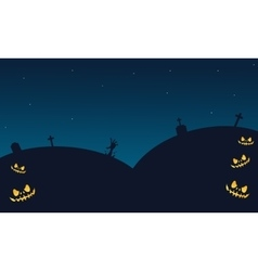 Halloween backgrounds tomb of silhouette vector image