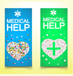healthy medical vertical banners vector image