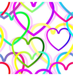 Heart seamless background vector