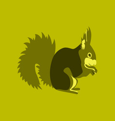 In flat style squirrel vector