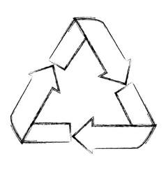 Isolated ecology emblem vector