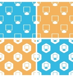Monitor pattern set colored vector