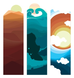 Nature layers vector