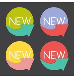 New Product Label Set in Retro Colors vector image vector image