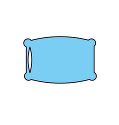Nice soft pillow to comfortable sleep vector