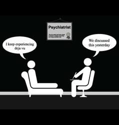 Psychiatrist deja vu vector