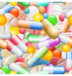 Seamless Pills vector image