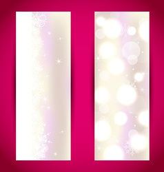 Set Christmas banners with snowflakes vector image vector image