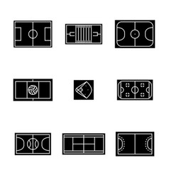 Set of icons playgrounds vector