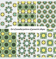 set of seamless pattern of geometric shape vector image