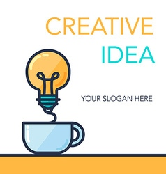 Creative success idea banner vector