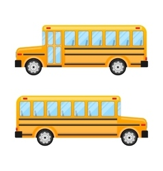School bus isolated on white background vector