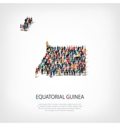 People map country equatorial guinea vector