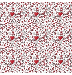 Seamless background with hearts ornament vector