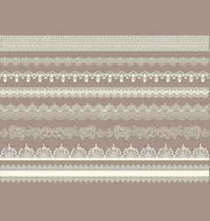 beautiful lace ribbons set vector image