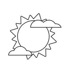 sun cloud weather image vector image