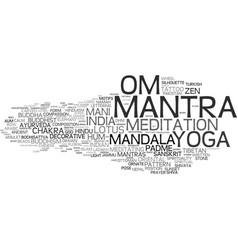 Mantra word cloud concept vector