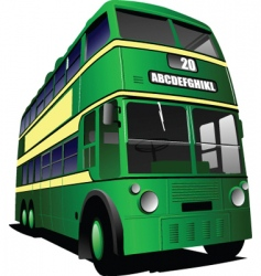 green bus vector image
