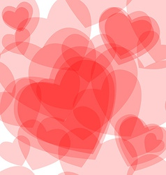 Seamless transparent hearts pattern vector