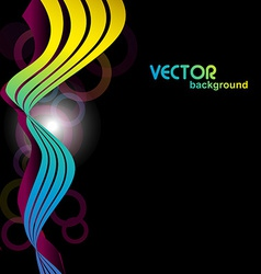 Colorful wave in 3d look vector