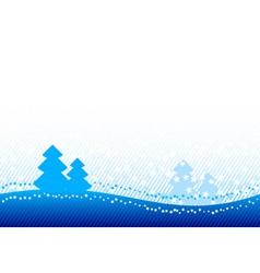 blue christmas vector image
