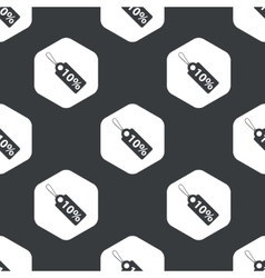 Black hexagon discount pattern vector