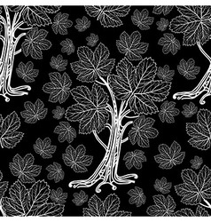Seamless tree pattern 02 vector