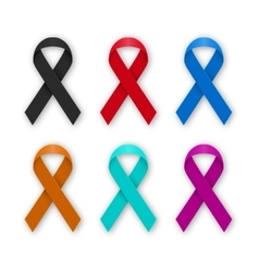 A set colored ribbons vector