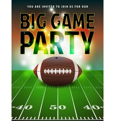 American Football Big Game Party vector image