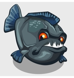 Evil piranha with sharp teeth isolated vector