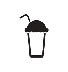 Black icon on white background coffee vector