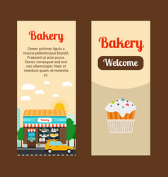 Bakery house flyers vector