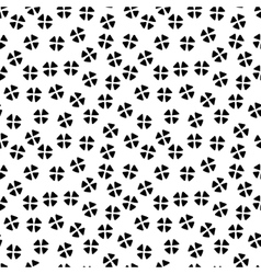 Black and white chaotic floral ethnic geometric vector image vector image