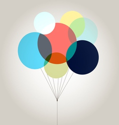 bright colored balloons vector image