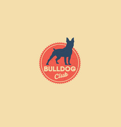 Bulldog logo kennel club vector