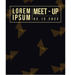 Collection meet up card geometric cover design vector