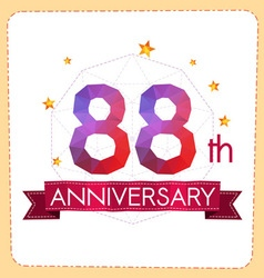 Colorful polygonal anniversary logo 2 088 vector