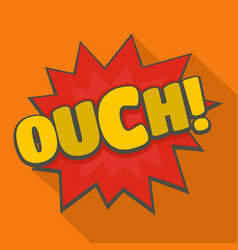 Comic boom ouch icon flat style vector