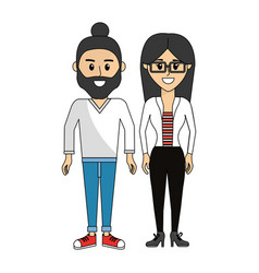 couple happy and together icon vector image vector image