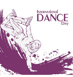 dance day break dance vector image vector image