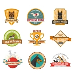 Dog emblems set vector image