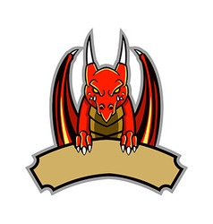 Dragon badge vector