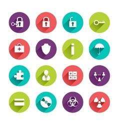 Flat application icons set vector