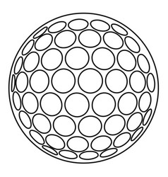 golf ball icon outline style vector image